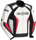 Cortech Mens White/Red/Black Latigo 2.0 Leather Motorcycle Jacket