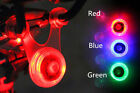 Bike Bicycle Red Blue Green LED Rear Light Waterproof Tail Lamp Quick Alarm