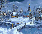 Beautiful Winter Printed Tapestry Needlepoint Canvas A Fine Snow Day 006