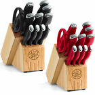 Guy Fieri 12 Piece Stamped Knife Block Set - Choice of Color