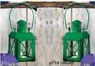 "2 Small MINI green 5"" Candle Holder colonial lantern outdoor terrace fairy light"