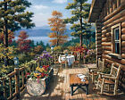 Gobelin Tapestry Printed Needlepoint Canvas Country Wooden House 075