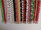 PRINTED COLORED FLAT SHOELACES LACES 33 VARIATIONS