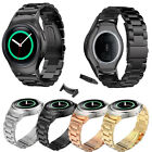 Stainless Steel Leather Watch Band Strap + Connector For Samsung Gear S2 RM-720