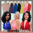 50s Style Marilyn PINUP Tie Back Halter Top with Shirred Detail ~ In 10 COLORS!