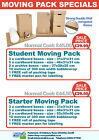 Student House Moving Pack Cardboard Box Bubble Wrap Buff Tape Set