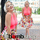 50s Style Pop Art MARILYN MONROE Print PINUP High-Waist Skirt w/ Full Silhouette