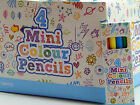 5 to 120 Packs of 4 mini Colour Pencils! Party Bag Fillers! Girl! Boy! Unisex!