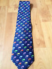 FISHING TIE - SILK TIE WITH FLY PATTERN -PERFECT PRESENT FOR A FLY FISHERMAN