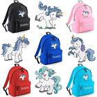 PERSONALISED EMBROIDERED JUNIOR UNICORN RUCKSACK/BACKPACK - pony horse bag