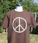 New Vintage PEACE SYMBOL T-Shirt -Chocolate Brown