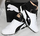 Puma Ignite Hi-Top Mens Golf Shoes - White Black Drizzle - Limited Edition