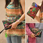 Retro Women's Ethnic Embroider Purse Wallet Clutch Coin Card Holder Phone Bag DZ