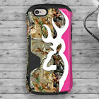 Deer Head Camo Pink Country iPhone 6 6S TPU Rubber Hybrid Shockproof Case