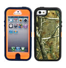Heavy Duty Green Tree Camo Cover Case for iPhone 5S 5G