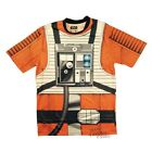 Star Wars Red 5 Rebel Pilot Sublimated Costume Licensed Adult Shirt S-XXL