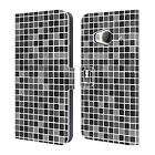 HEAD CASE DESIGNS MOSAIC TILES LEATHER BOOK WALLET CASE COVER FOR HTC ONE ME