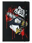 Psycho Penguin Chainsaw A5 Black Notebook 14x21cm