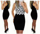 New Womens Black Mini Bodycon Dress Size 8-10 Very comfortable and 100% sexy