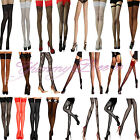 Yummy Bee Stockings Lace Hold Ups Seam Sheer Fishnet Tights Thigh Opaque Bow XL