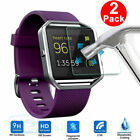 2 PCS Premium Real Tempered Glass Screen Protector Film for Fitbit Blaze Watch