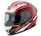 Scorpion Red/Black/White EXO-R2000 Ion Motorcycle Helmet Snell DOT Race