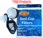 3 Pack Shark Hand Vac XSB726N Washable Reusable Dust Cup Filters SV719 SV726