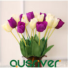 10pcs Artficial Fake Tulip Flowers Bouquet Home Room Wedding Party Room Decor
