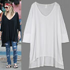 AnnaKastle New Womens Ladies Oversized Silky Cape Long Tee T shirts size M - L
