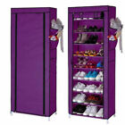 Portable Shoe Rack Shelf Storage Closet Home Organizer Cabinet with Cover