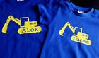 Digger! Kids Personalised Cotton T-shirt , Custom printed Gift