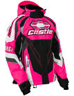 Castle Womens Hot Pink/Black/White Charge G2C Snowmobile Jacket Snow Snowcross