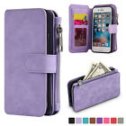 Luxury Genuine Leather Flip Wallet Phone Case Cover for iPhone 6 6s Plus Samsung