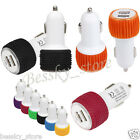 Universal Use Mini Dual Ports 12V USB Auto In Car Charger Adaptor For Samsung