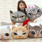 Plush New 3D Cute Cat Face Soft  Throw Pillow Case Cover Decor Cushion Toy Doll