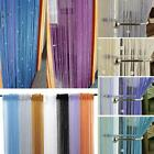 Crystal Beaded String Door Window Fringe Curtain Room Divider Fly Screen Blind