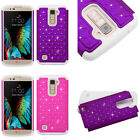 Purple Pink White Crystal Diamond Star Cover Protector Phone Case for LG K10
