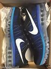 Nike Flyknit Air Max Black White Game Royal 620469-014 Mens 10