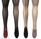 Womens Sexy Back Seamed Cuban Heel Tights in Sizes 8-24 Uk, 36-52 Eur