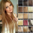 "15""/37CM 70G CLIP IN HUMAN HAIR EXTENSION FULL HEAD MORE COLORS 7PCS/SET"