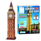 NEW 3D Puzzle Big Ben, Tower Bridge, Eiffel Tower, The White House, Titanic <br/> 21 Different Style, From Entry Level to Advanced