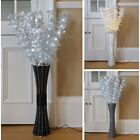 Floor Standing Fibre Optic Lamp Flowers Indoor White Lighting Home Décor 1m Tall