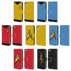 STAR TREK UNIFORMS AND BADGES TOS LEATHER BOOK CASE FOR APPLE iPOD TOUCH MP3