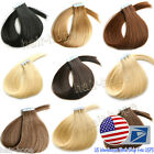 "US Ship 16""-20"" Tape In Skin Weft Brazilian Remy Human Hair Extensions Straight"