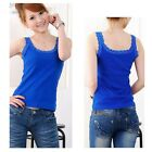 Fashion Women Summer Vest Top Sleeveless Lace Blouse Casual Tank Tops T-Shirt AS