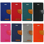 8 Colors New high quality Canvas Diary Wallet case for Samsung Various