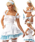 Sexy 6 Piece Dairy Maid Cowgirl Farm Womens Strip Costume