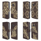 HEAD CASE DESIGNS HENNA LEATHER BOOK WALLET CASE COVER FOR HTC PHONES 1