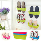 Convinient Wall-Mounted Sticky Hanging Shoe Organizer Storage Rack Hanger Holder