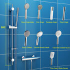 Bathroom Chrome Shower Set Shower Head Riser Rail Thermostatic Mixer Valve